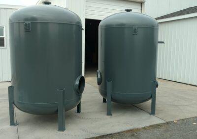 Powder coating green tanks